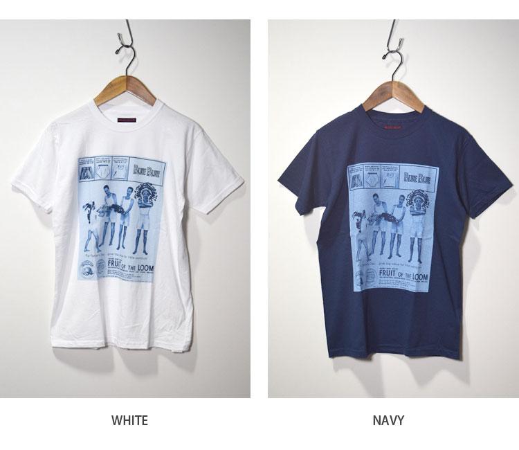 画像3: 【WHT Lサイズのみ】【メンズ】フルーツオブザルーム・ブルーブルー(FRUIT OF THE LOOM・BLUE BLUE)2018年春夏モデル FRUIT OF THE LOOM・BLUE BLUEアパッチプリントTシャツ (3)