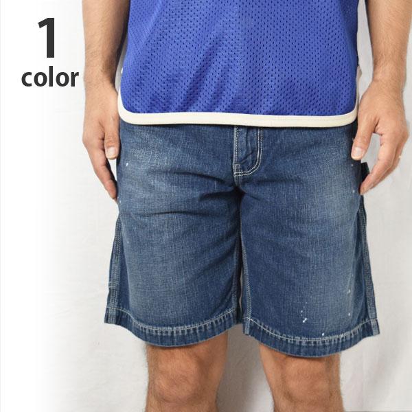 画像1: 【Sサイズのみ】【メンズ】ブルーブルー(BLUE BLUE)デニムペインターショーツ SH2018 (1)