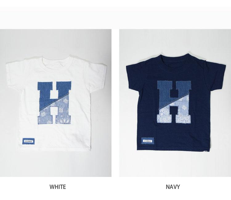 画像3: 【キッズ】エイチアールリメイク(H.R.REMAKE)2018年春夏モデル HRR H ハーフパッチ HパッチTシャツ キッズ (3)