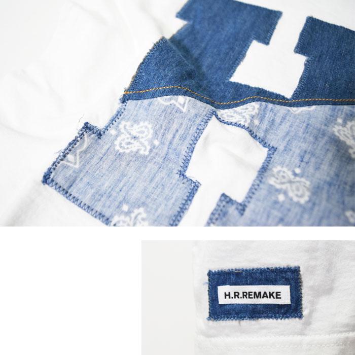 画像4: 【キッズ】エイチアールリメイク(H.R.REMAKE)2018年春夏モデル HRR H ハーフパッチ HパッチTシャツ キッズ (4)