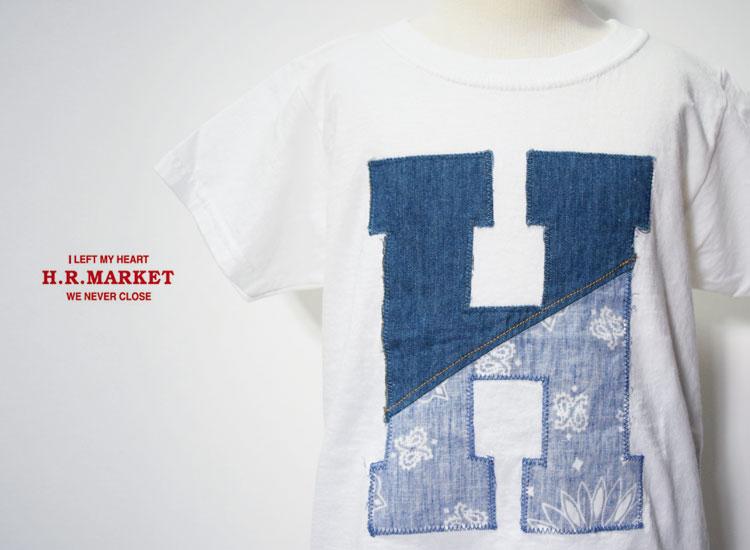 画像2: 【キッズ】エイチアールリメイク(H.R.REMAKE)2018年春夏モデル HRR H ハーフパッチ HパッチTシャツ キッズ (2)