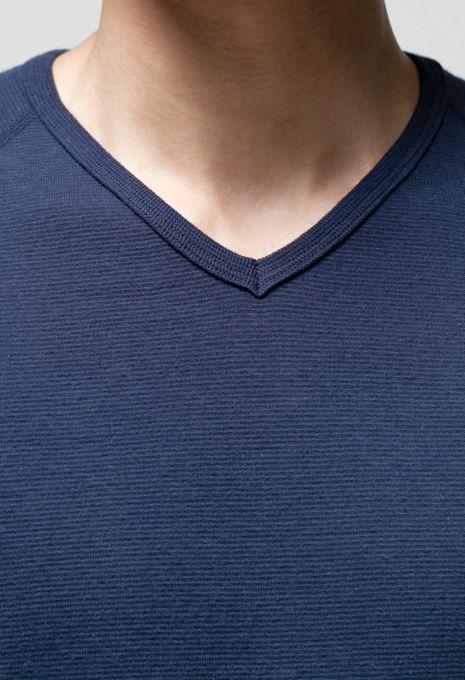 画像3: 【全カラー・全サイズ展開】ハリウッドランチマーケット 『ストレッチフライス VネックショートスリーヴTシャツ カラー:NAVY』 (3)