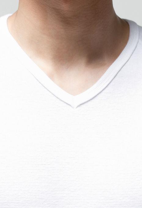 画像3: 【全カラー・全サイズ展開】ハリウッドランチマーケット 『ストレッチフライス VネックショートスリーヴTシャツ カラー:WHT』 (3)