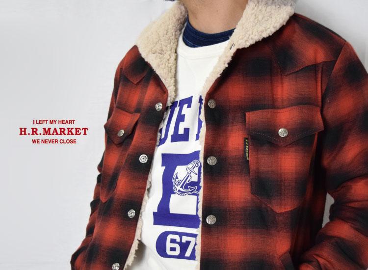 画像2: 【メンズ】ハリウッドランチマーケット(HOLLYWOOD RANCH MARKET)2018年秋冬モデル ブラッシュドチェックボア ライニングジャケット CDB (2)