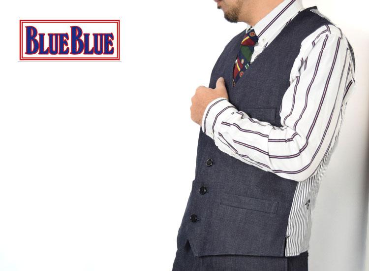 画像2: 【メンズ】ブルーブルー(BLUE BLUE)ストレッチデニム ベスト (2)