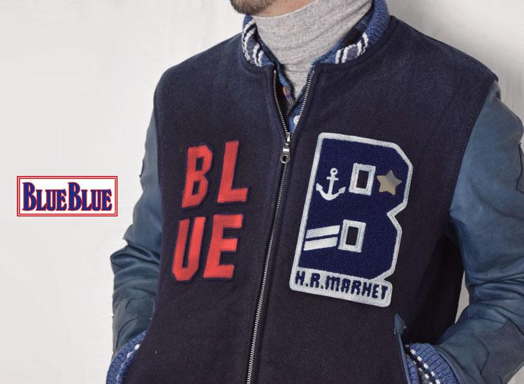 画像2: 【Lサイズのみ】【メンズ】ブルーブルー(BLUE BLUE) インディゴメルトン BLUE BLUE アワードジャケット (2)