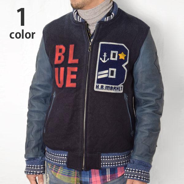 画像1: 【Lサイズのみ】【メンズ】ブルーブルー(BLUE BLUE) インディゴメルトン BLUE BLUE アワードジャケット (1)