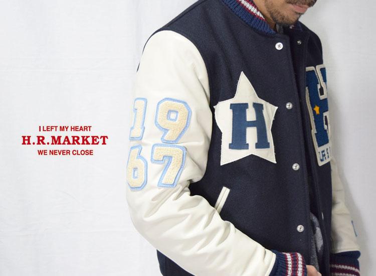 画像2: 【メンズ】ハリウッドランチマーケット(HOLLYWOOD RANCH MARKET)2018年秋冬モデル スリーブレザー HRM アワードジャケット (2)