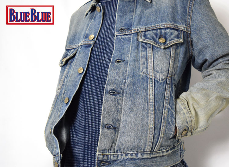 画像2: 【メンズ】ブルーブルー(BLUE BLUE)セルビッチデニム ユーズドGジャケット (2)