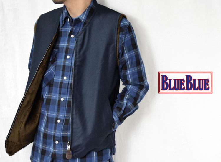 画像2: 【メンズ】ブルーブルー(BLUE BLUE)2018年秋冬モデル ジャーマンクロス デッキアーサーベスト (2)