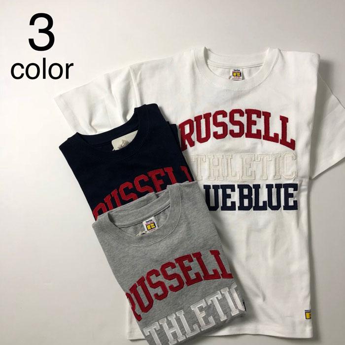 画像1: 【メンズ】ラッセル・ブルーブルー(RUSSELL・BLUEBLUE)RUSSELL・BLUE BLUE ATHLETIC TACKLE Tシャツ (1)