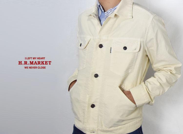 画像2: 【メンズ】ハリウッドランチマーケット(HOLLYWOOD RANCH MARKET)2019年春夏モデル ライトジャーマンクロスストレッチ Gジャケット (2)