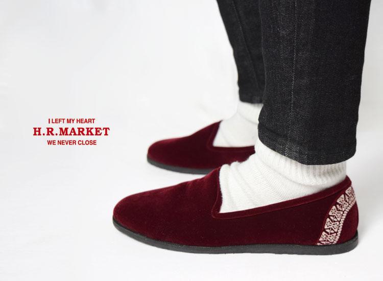 画像2: 【レディース】ハリウッドランチマーケット(HOLLYWOOD RANCH MARKET)インディアベルベット ロイヤルスリッポンシューズ (2)