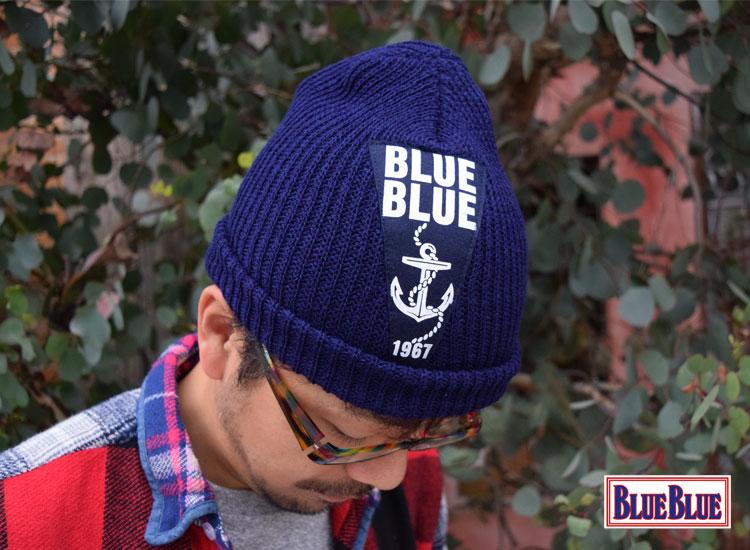 画像2: 【小物・雑貨】ブルーブルー(BLUE BLUE)2018年秋冬モデル ブルーブルー アンカーフェルトパッチニットキャップ BBN (2)