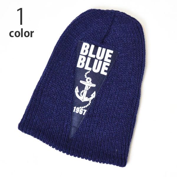 画像1: 【小物・雑貨】ブルーブルー(BLUE BLUE)2018年秋冬モデル ブルーブルー アンカーフェルトパッチニットキャップ BBN (1)