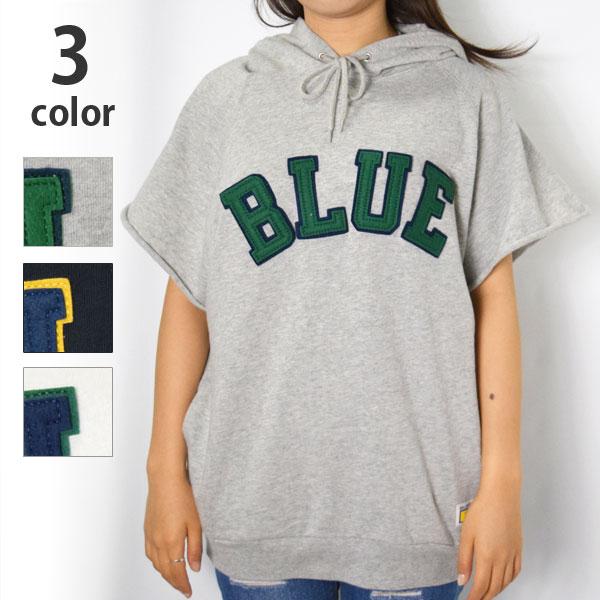 画像1: 【レディース】ラッセル・ブルーブルー(RUSSELL・BLUE BLUE)RUSSELL・BLUE BLUEプルパーカ ベスト (1)