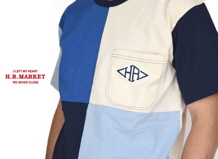 画像2: 【メンズ】ハリウッドランチマーケット(HOLLYWOOD RANCH MARKET)HRワッペン パネルリングTシャツ (2)