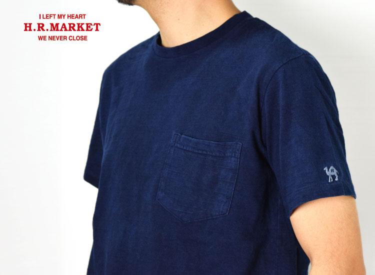 画像2: 【メンズ】ハリウッドランチマーケット(HOLLYWOOD RANCH MARKET)GSYポケットクルーネック インディゴダイドTシャツ (2)