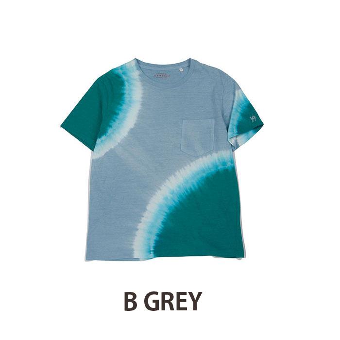 画像4: 【メンズ】ハリウッドランチマーケット(HOLLYWOOD RANCH MARKET)GSY 2トーンタイダイ ポケットクルーネックTシャツ (4)