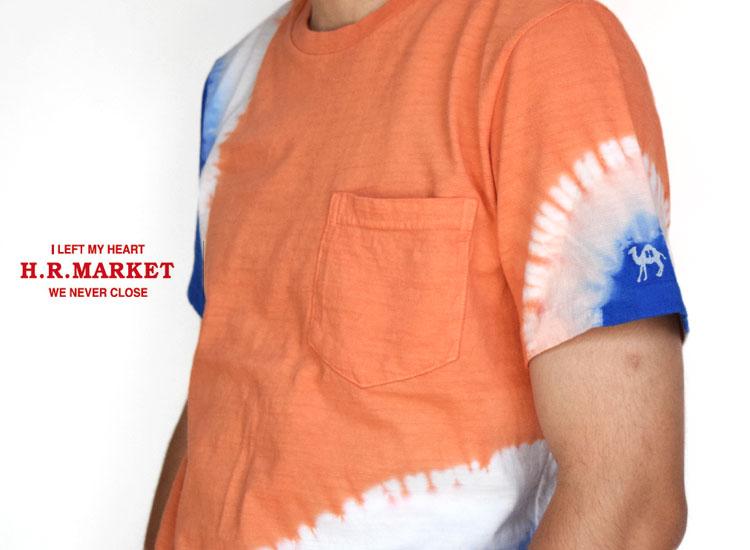 画像2: 【メンズ】ハリウッドランチマーケット(HOLLYWOOD RANCH MARKET)GSY 2トーンタイダイ ポケットクルーネックTシャツ (2)