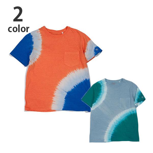 画像1: 【メンズ】ハリウッドランチマーケット(HOLLYWOOD RANCH MARKET)GSY 2トーンタイダイ ポケットクルーネックTシャツ (1)