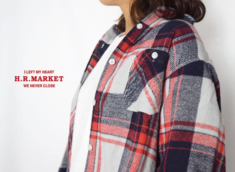 画像2: 【レディース】ハリウッドランチマーケット(HOLLYWOOD RANCH MARKET)ホームスパンブラッシュド インドネルチェックシャツ ウイメンズ (2)