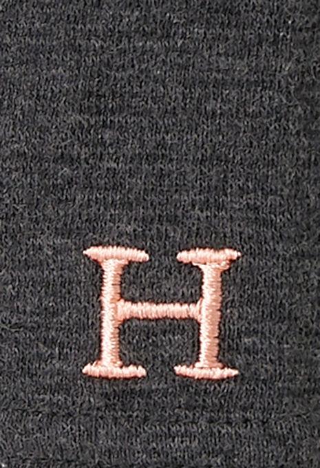 画像2: ハリウッドランチマーケット 『ストレッチフライス レディース UネックロングスリーヴTシャツ カラー:D GREY』 (2)