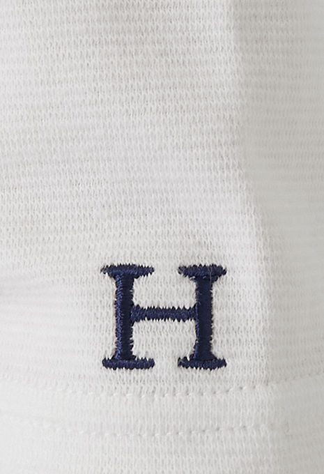 画像2: ハリウッドランチマーケット 『ストレッチフライス レディース VネックロングスリーヴTシャツ カラー:WHT』 (2)