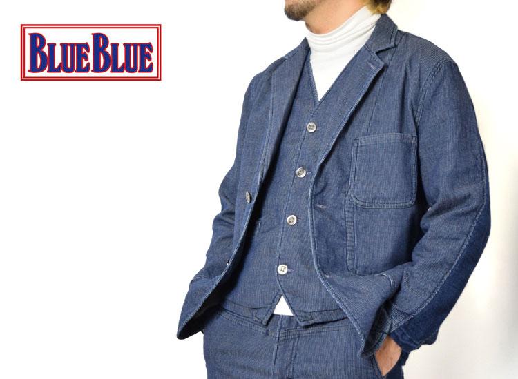 画像2: 【メンズ】ブルーブルー(BLUE BLUE)ストレッチデニムピケ サイドリブジャケット (2)