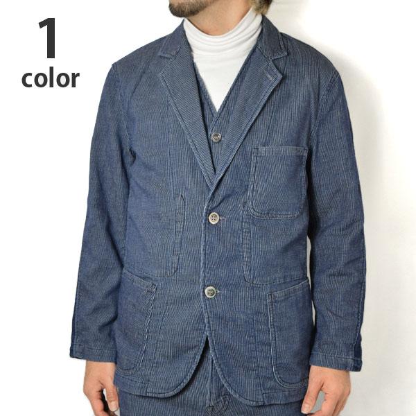 画像1: 【メンズ】ブルーブルー(BLUE BLUE)ストレッチデニムピケ サイドリブジャケット (1)
