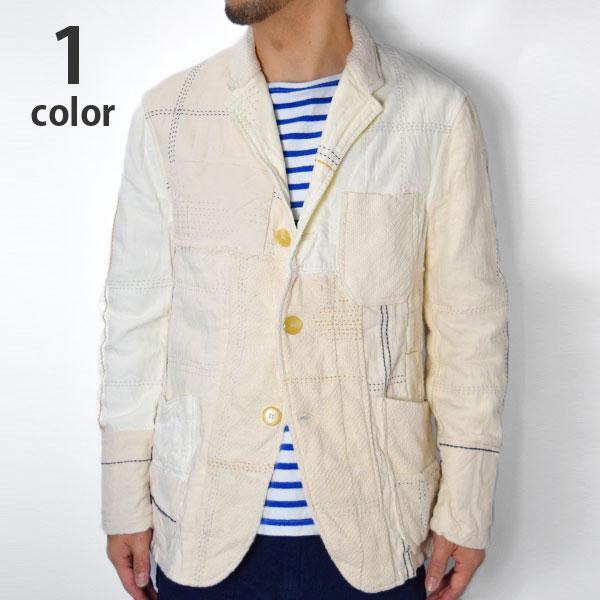 画像1: 【Mサイズのみ】【メンズ】ブルーブルー(BLUE BLUE)アンティークパッチワーク 3Bジャケット (1)