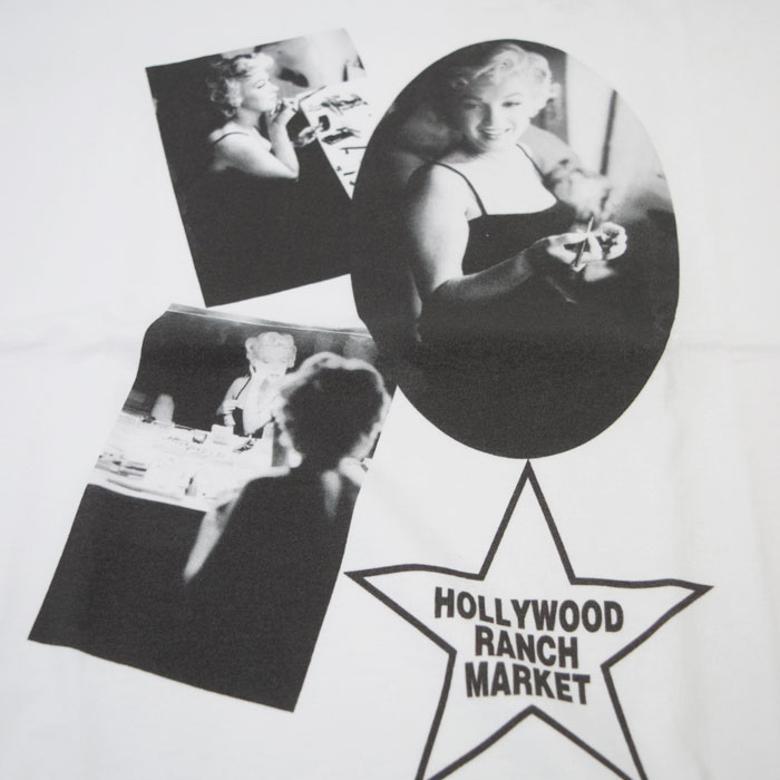 画像2: 【メンズ】ハリウッドランチマーケット(HOLLYWOOD RANCH MARKET)MARILYN MONROE・ HRM MAKE UP Tシャツ モンロー2020 (2)