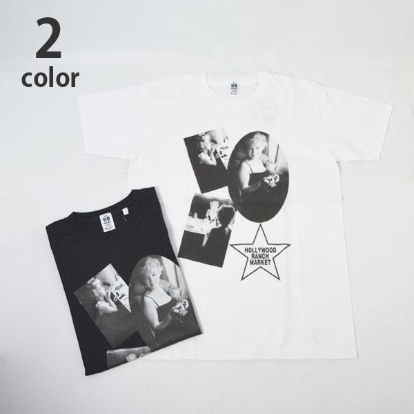 画像1: 【メンズ】ハリウッドランチマーケット(HOLLYWOOD RANCH MARKET)MARILYN MONROE・ HRM MAKE UP Tシャツ モンロー2020 (1)