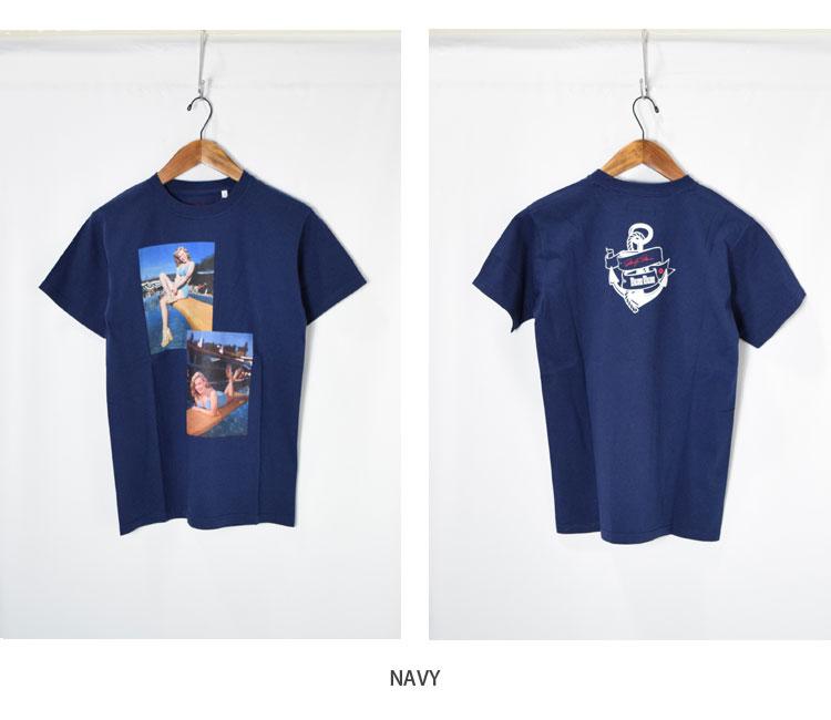 画像4: 【メンズ】ブルーブルー(BLUE BLUE)MARILYN MONROE・ BLUEBLUE POOLSIDE Tシャツ モンロー2020 (4)