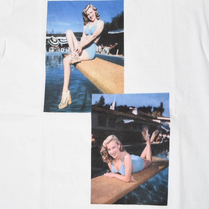 画像2: 【メンズ】ブルーブルー(BLUE BLUE)MARILYN MONROE・ BLUEBLUE POOLSIDE Tシャツ モンロー2020 (2)