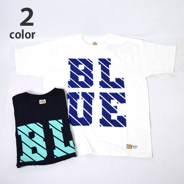 画像1: 【メンズ】ラッセル・ブルーブルー(RUSSELL・BLUEBLUE)RUSSELL・BLUEBLUE ラインロゴ ショートスリーブTシャツ (1)