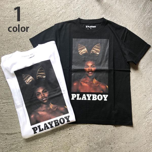 画像1: 【メンズ】プレイボーイ・スクリーンスターズ・ハリウッドランチマーケット(PLAYBOY・SCREEN STARS・HOLLYWOOD RANCH MARKET)BUNNY Tシャツ PB (1)