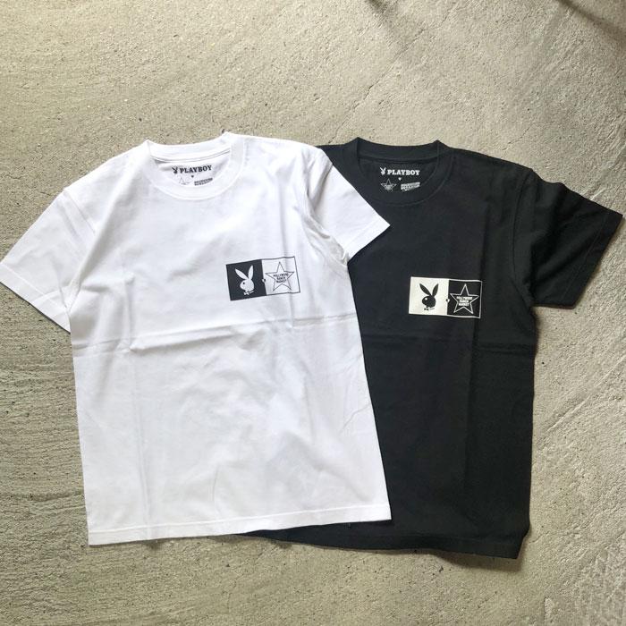 画像2: 【メンズ】プレイボーイ・スクリーンスターズ・ハリウッドランチマーケット(PLAYBOY・SCREEN STARS・HOLLYWOOD RANCH MARKET)BIG LOGO Tシャツ PB (2)