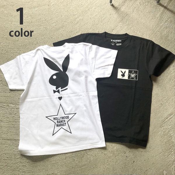 画像1: 【メンズ】プレイボーイ・スクリーンスターズ・ハリウッドランチマーケット(PLAYBOY・SCREEN STARS・HOLLYWOOD RANCH MARKET)BIG LOGO Tシャツ PB (1)