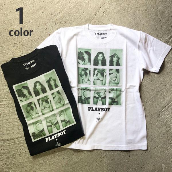 画像1: 【メンズ】プレイボーイ・スクリーンスターズ・ハリウッドランチマーケット(PLAYBOY・SCREEN STARS・HOLLYWOOD RANCH MARKET)POLAROID Tシャツ PB (1)