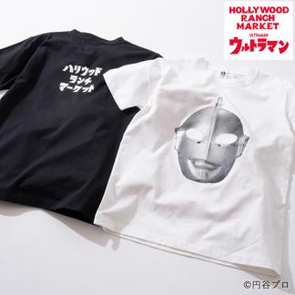 画像1: HOLLYWOOD RANCH MARKET ウルトラマン HRM FACE Tシャツ (1)