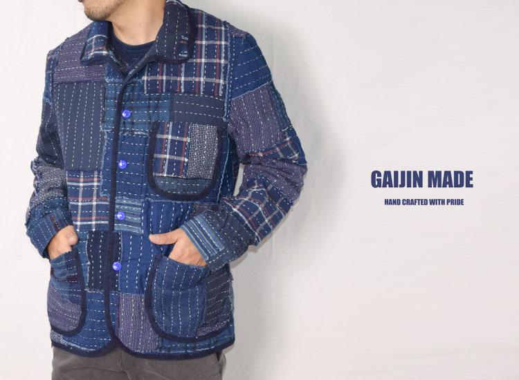 画像2: 【Sサイズのみ】【メンズ】ガイジンメイド(GAIJIN MADE)2018年秋冬モデル クレイジーハンドパッチワークジャケット (2)