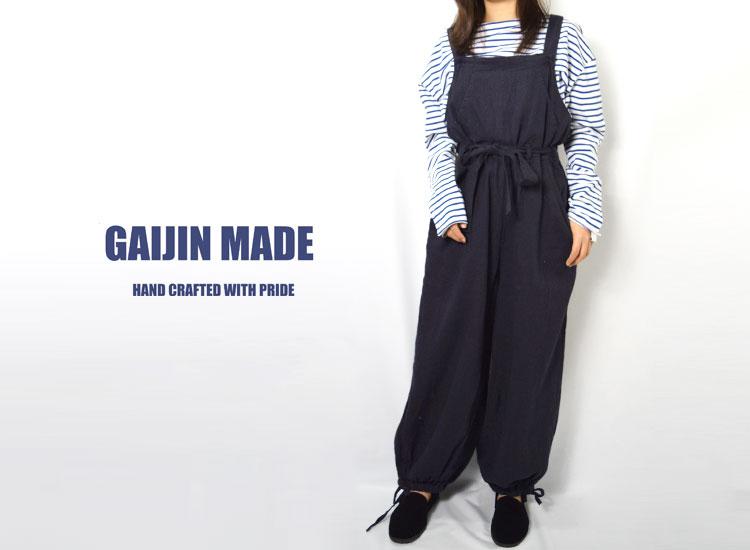 画像2: 【レディース】ガイジンメイド(GAIJIN MADE)リネンコットン オーバーオール ウイメンズ (2)