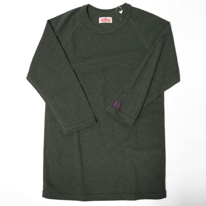 画像1: 【全カラー・全サイズ展開】ハリウッドランチマーケット 『ストレッチフライス ハーフスリーヴTシャツ カラー:D GREEN』 (1)
