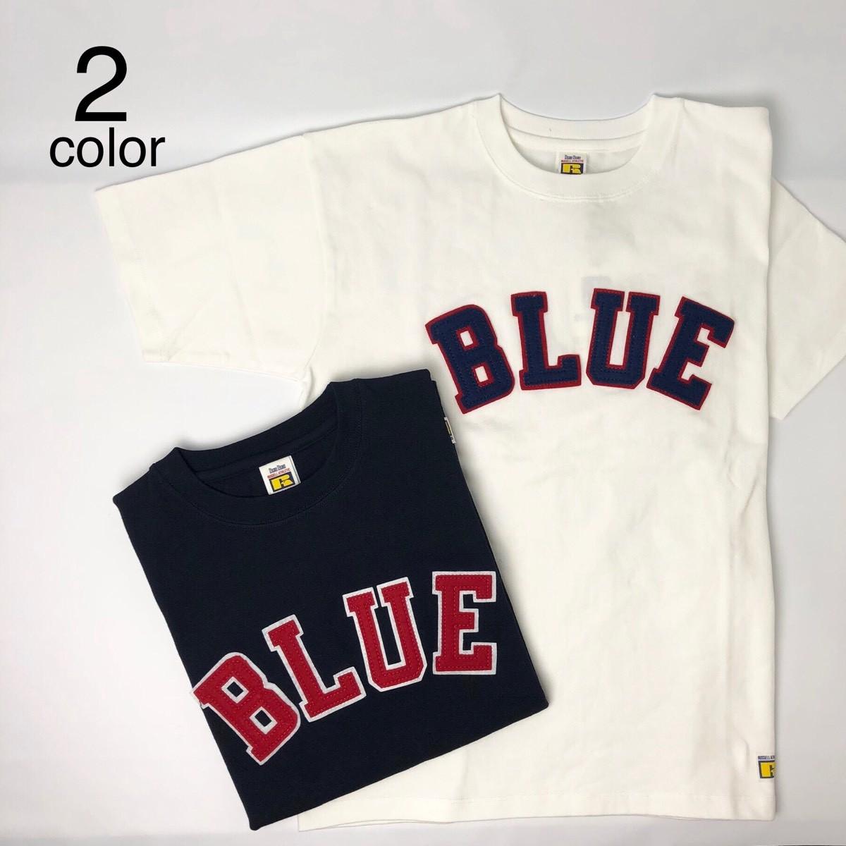 画像1: 【メンズ】ラッセル・ブルーブルー(RUSSELL・BLUEBLUE)RUSSELL・BLUE BLUE BLUEパッチTシャツ (1)