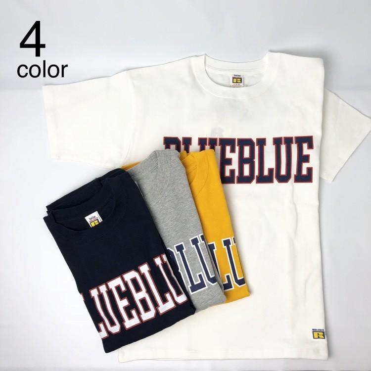 画像1: 【メンズ】ラッセル・ブルーブルー(RUSSELL・BLUEBLUE)RUSSELL・BLUE BLUE カレッジロゴ Tシャツ (1)