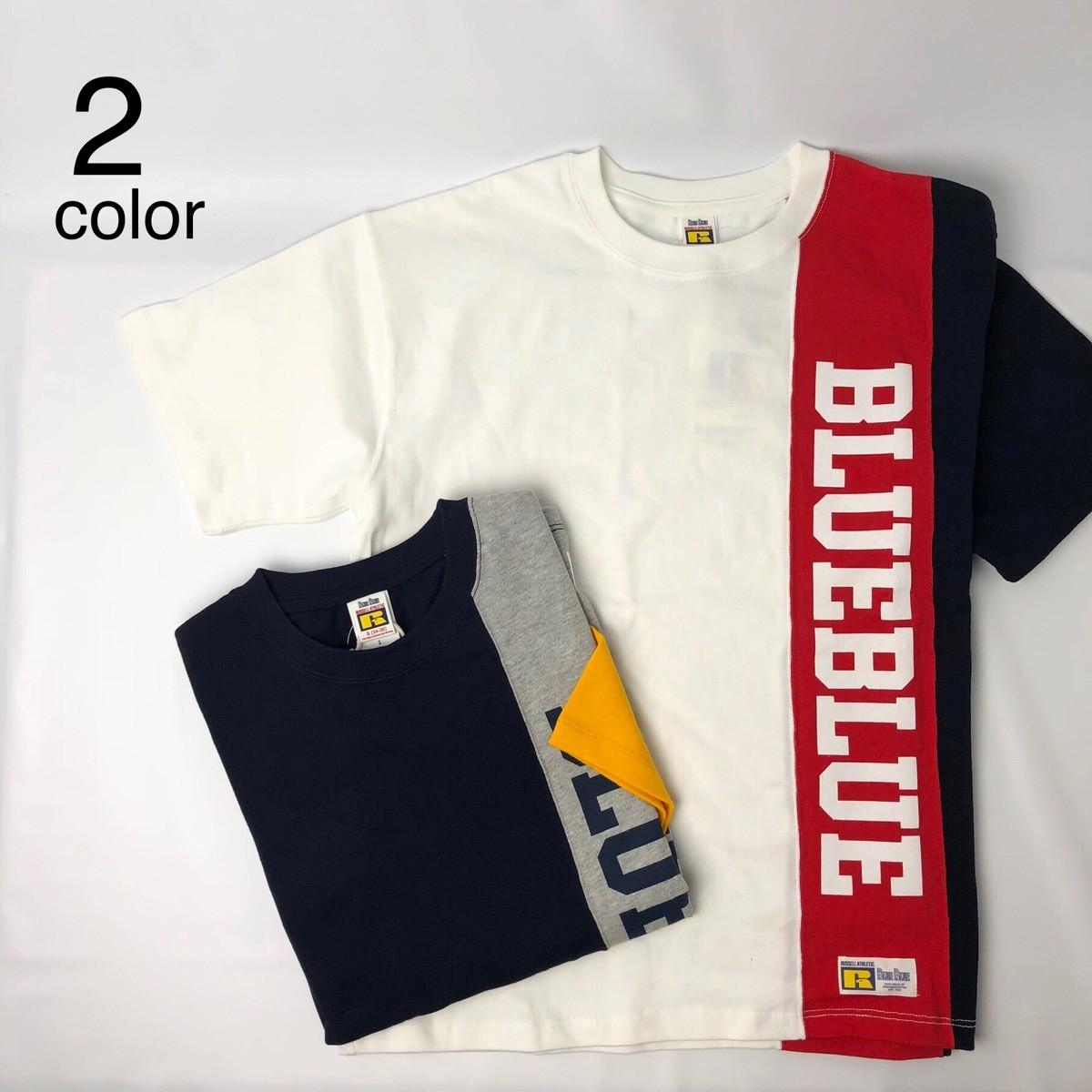 画像1: 【メンズ】ラッセル・ブルーブルー(RUSSELL・BLUEBLUE)RUSSELL・BLUE BLUE 3トーン Tシャツ (1)