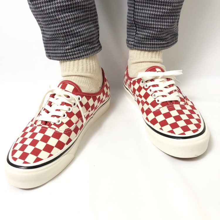 画像2: 【スニーカー】 VANS(バンズ/ヴァンズ) AUTHENTIC 44 DX (ANAHEIM FACTORY PACK)OG BLUE/CHECK OG RED/CHECK (2)