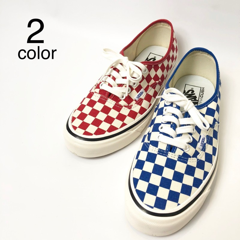 画像1: 【スニーカー】 VANS(バンズ/ヴァンズ) AUTHENTIC 44 DX (ANAHEIM FACTORY PACK)OG BLUE/CHECK OG RED/CHECK (1)