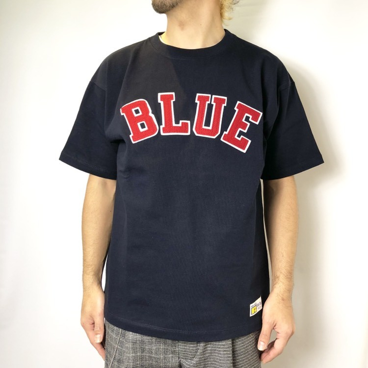 画像2: 【メンズ】ラッセル・ブルーブルー(RUSSELL・BLUEBLUE)RUSSELL・BLUE BLUE BLUEパッチTシャツ (2)